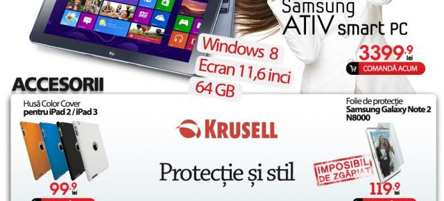 Quickmobile.ro aduce tableta Windows 8 Samsung Ativ Smart PC În România, vine cu CPU Intel Atom