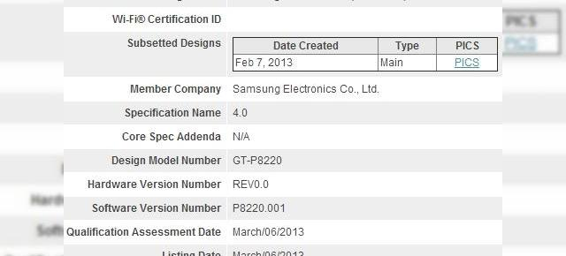 Samsung Galaxy Tab 3 Plus LTE confirmat de o autoritate de certificare Bluetooth