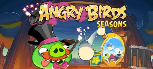 Angry Birds Seasons Abra-ca-Bacon review: un pic de bacon, un pic de clownerie (Video)