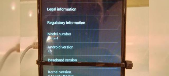 Android 4.3 surprins În acțiune pe Nexus 4, filmat și fotografiat (Video)