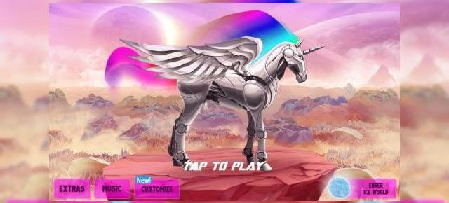 Robot Unicorn Attack 2 review: joc psihedelic cu unicorni, balene cu corn și grafică multicoloră (Video)