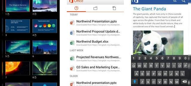 Microsoft lansează Office Mobile for Office 365 pe Android, permite editarea documentelor și sincronizare cu SkyDrive
