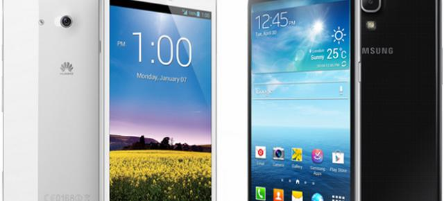 Bătălia giganților: Huawei Ascend Mate de la Orange vs Samsung GALAXY Mega 6.3 de la Vodafone