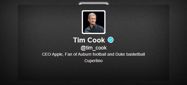 CEO-ul Apple, Tim Cook are În sfârșit un cont de Twitter