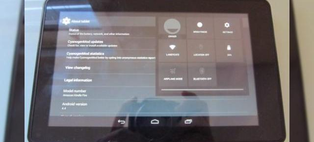 Android 4.4 KitKat portat pe tableta Amazon Kindle Fire (versiunea 2011)