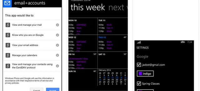 Windows Phone 8.1 ar putea readuce suportul Google Calendar