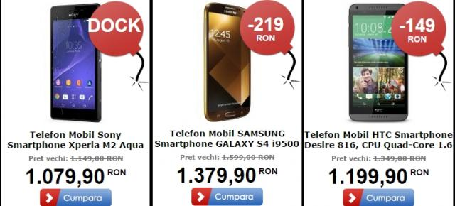 Top 3 telefoane și tablete În oferta MarketOnline.ro de Black Friday