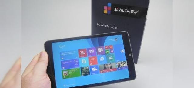Allview Wi8G Unboxing & Concurs: tabletă de 8 inch solidă, cu Windows 8.1 la bord și 3G (Video)