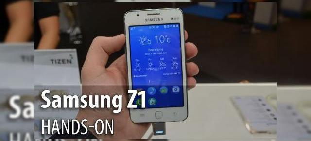 MWC 2015: Samsung Z1 (Tizen OS) hands-on - alternativa compactă la Android, cu un soi de TouchWiz diluat ca OS (Video)