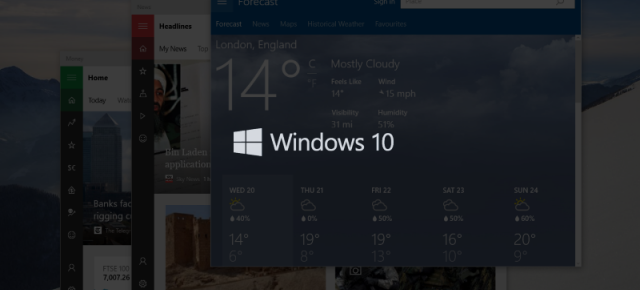 Windows 10 Build 10125 aduce un nou buton Back pe tablete şi noi iconuri
