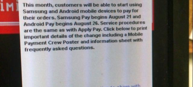 Android Pay va debuta pe 26 august, conform unor memo-uri interne de la McDonald's