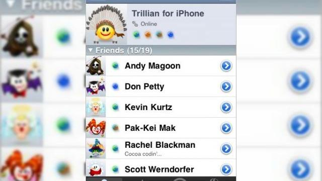 Trillian soseste acum pe iPhone