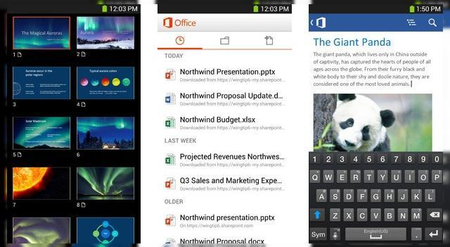 <b>Microsoft lansează Office Mobile for Office 365 pe Android, permite editarea documentelor și sincronizare cu SkyDrive</b>Luna trecută Microsoft lansa Office Mobile for Office 365 pe iOS și acum același produs pe Android, cu suport pentru editare a documentelor din mers și sincronizare cu SkyDrive. Interfața aduce foarte mult cu versiunea Windows Phone 8, dar se...